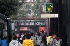 Via a Shanghai, Cina fotografie stock libere da diritti