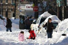Via sotto neve Fotografia Stock Libera da Diritti