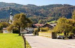 Via in st Gilgen, Austria immagini stock