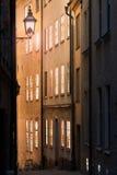 Via stan di Gamla a Stoccolma, Svezia Fotografia Stock
