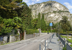Via statalestraat, Cadenabbia, Como-Meer royalty-vrije stock foto's