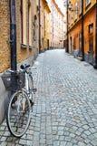 Via a Stoccolma Fotografia Stock Libera da Diritti
