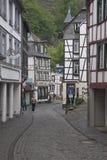 Via storica in Monschau Fotografie Stock