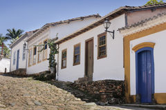 Via storica in Tiradentes, Brasile Fotografia Stock
