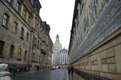 Via storica unica di Dresda Immagine Stock