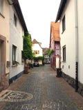 Via stretta nella vecchia città della Germania Fotografia Stock