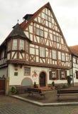 Via stretta nella vecchia città della Germania Fotografia Stock Libera da Diritti