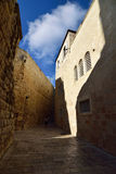 Via stretta a vecchia Gerusalemme Fotografia Stock