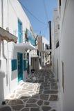 Via in Paros Fotografie Stock Libere da Diritti