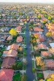 Via suburbana australiana Fotografia Stock Libera da Diritti