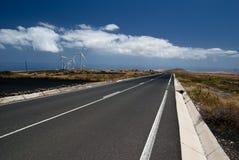 Via sull'isola di Lanzarote Immagini Stock Libere da Diritti