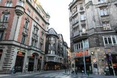 Via tipica a Budapest Immagini Stock Libere da Diritti