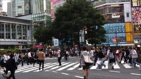 Via Tokyo Giappone di Shibuya archivi video