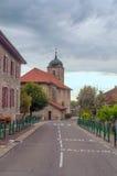 Via in un villaggio Fotografia Stock