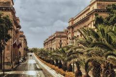 Via a Valletta Immagini Stock