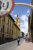 Via variopinta a Bogota Fotografia Stock