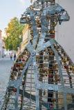 Via variopinta nella vista barrocco di Varazdin della città, destinati turistico immagine stock