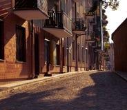 Via in vecchia città Immagini Stock
