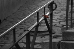 Via in vecchia città di Tallinn Immagini Stock Libere da Diritti