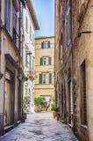 Via in vecchia città Lucca, Italia Fotografia Stock