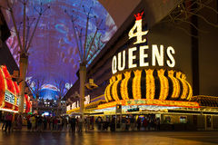 Via Vegas di Fremont Immagini Stock