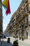 Via Vittorio Emanuele, Palermo, Sicily royalty free stock images
