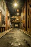 Via vuota alla notte a Boston Fotografia Stock