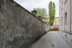 Via vuota del centro urbano Fotografia Stock Libera da Diritti