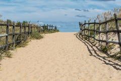 Via vuota della spiaggia a Sandbridge Fotografie Stock