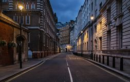 Via vuota di Londra Fotografia Stock Libera da Diritti