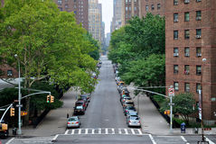 Via vuota New York, New York Fotografie Stock Libere da Diritti