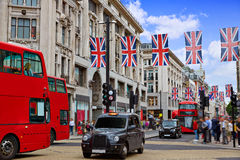 Via W1 Westminster di Oxford del bus di Londra Fotografie Stock Libere da Diritti