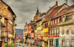 Via in Wasselonne - Bas-Rhin, Francia fotografia stock