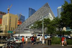 VIA 57 West 5. VIA 57 West marketed as VIΛ 57WEST is the name of a residential building designed by the Danish architecture firm Bjarke Ingels Group BIG. The Royalty Free Stock Images