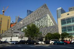 VIA 57 West 14. VIA 57 West marketed as VIΛ 57WEST is the name of a residential building designed by the Danish architecture firm Bjarke Ingels Group BIG. The Royalty Free Stock Photo