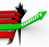 Viability Arrow Rises Possible Potential Success Feasibility Royalty Free Stock Image