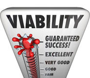 Viability Word Thermometer Potetential Success Business Measurem Stock Images