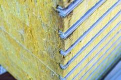 Viable de panneau 'sandwich' d'emballage isolé Matériel de fibre pour le bâtiment de mur Foyer sélectif image stock