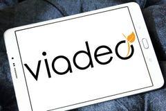 Viadeo社会网络商标 免版税库存图片