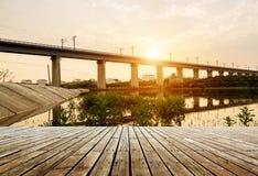 Viadotto dedicato del treno ad alta velocità Fotografia Stock