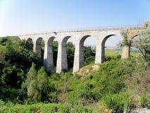 Viadotto del ponte ferroviario Immagine Stock