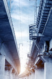 Viadotto della ferrovia ad alta velocità Immagine Stock
