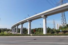 Viadotto della ferrovia ad alta velocità Immagini Stock Libere da Diritti