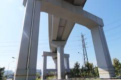 Viadotto della ferrovia ad alta velocità Fotografie Stock Libere da Diritti