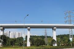 Viadotto della ferrovia ad alta velocità Fotografia Stock Libera da Diritti