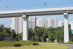 Viadotto della ferrovia ad alta velocità Immagine Stock Libera da Diritti