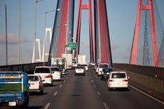 Viadotto della strada principale del Giappone Fotografie Stock Libere da Diritti