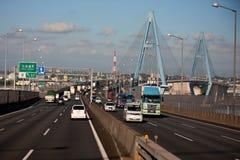 Viadotto della strada principale del Giappone Fotografia Stock