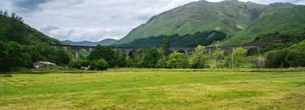 Viadotto di Glenfinnan, ponte popolare, Scozia, Regno Unito immagini stock libere da diritti
