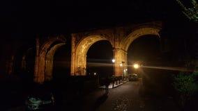 Viadotto di Knaresborough alla notte fotografia stock libera da diritti